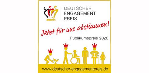 Deutscher Engagementpreis – Stimmen Sie für uns ab!
